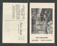 1960s THE BUCKHORN DENVER COLORADO POSTCARD