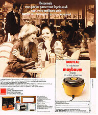 PUBLICITE ADVERTISING 104  1976  MAYBAUM  éléctroménager mijoteuse