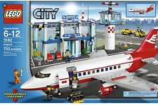 💫LEGO City Großer Flughafen Airports 3182/3181 Passagier Flugzeug, Top Gepflegt