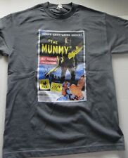 The Mummy (Peter Cushing,Christopher Lee) Mens Grey T-Shirt -Available Sm to 2x