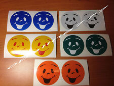 STICKER  REFLECHISSANT SMILE SMILEY SECURITE ENFANT CASQUE VELO SKI sac a dos
