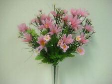"""PINK Daisy Mixed Flowers Bush Artificial Silk 16"""" Bouquet 818PK"""