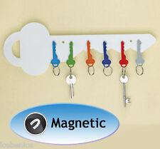 Llavero Colgador organizador de almacenamiento magnético, Blanco, Nuevo