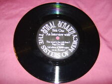 """7"""" SISTERS OF MERCY SPIRAL SCRATCH INTERVIEW DISC"""