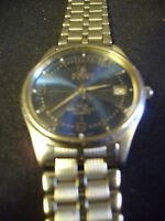Berenger Steel Watch 5 ATM Water Resistant Quartz Japan Movement All SS Box79-2F