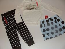 Gymboree Girls Best Friend Girls Size 3 Dot Skirt Top Dot Brown Pants NWT NEW