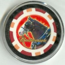 BUDWEISER CLYDESDALE HORSE Poker Card Guard Protector - Red