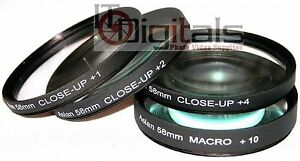 Close-UP Macro Lens Glass Filter Set For Canon 300D 350D EOS Rebel 18-55mm