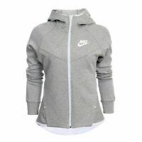 Nike Tech Fleece Windrunner Hoodie Full Zip Heather Grey Women Size M Sportswear