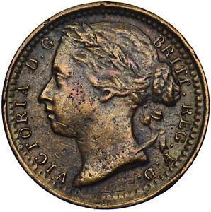 1885 THIRD FARTHING - VICTORIA BRITISH BRONZE COIN - NICE