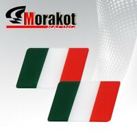 2x Italy Flag Green Red White Logo Dash Decal Sticker Emblem Fender Badge Bumper