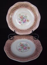 Vintage Dinnerware NASCO Union Made Pattern USA30 Pink by USA Saucer Only 2 Pc.