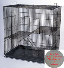 Chinchilla Guinea Pig Rat Animal Hamster Cage With Cross Shelves & Ladders 868