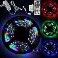 5M Set 3528 RGB 300 LED SMD Strip Light+44KEY IR Controller+12V 2A Power Supply