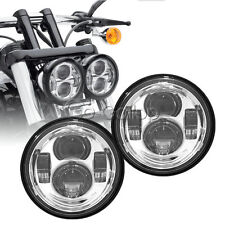 Chrome LED Motorcycle Daymaker HeadLights For Harley Fat Bob FXDF 2008-2015 2009