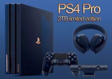 PS4 PlayStation 4 Pro 2TB 500 Million Limited Edition Console + Headset Bundle