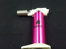 """NEWPORT TURBO TORCH FLAME LIGHTER PINK WITH STAND QUALITY 6"""" REFILLABLE"""