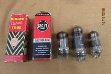 lot of 5 antique radio tubes / philco rca unmarked