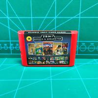 Super 218 in 1 Sega Genesis & Mega Drive Multi Cart 16-Bit Game Battery Save