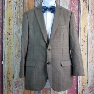 Brooks Brothers 1818 Fitzgerald Wool Brown Birdeye Check Sport Coat 39 Regular