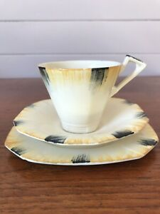 Vintage Alfred Meakin Art Deco Tea Trio Teacup Plate and Saucer England 1930's
