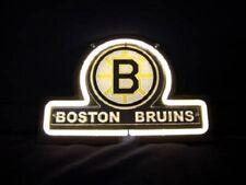 "New listing New Boston Bruins 3D Carved Neon Sign Light Lamp 14""x10"" Glass Decor Bar"