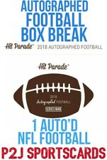 2018 HIT PARADE AUTOGRAPHED FOOTBALL HOBBY BOX BREAK 1 Team - Break 839 🏈✅
