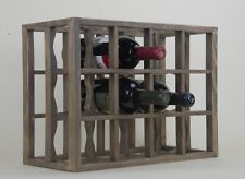 Victoria Wine Rack 12 bottles Solid Wood  Smoked color Countertop