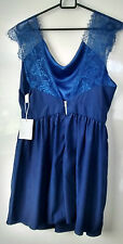 DESIGN BY KOREA SIZE 8-10 XL BLUE LINED DRESS. BNWT.
