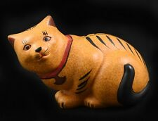 Franklin Mint Curio Cabinet Cat ~ Chalk Ware