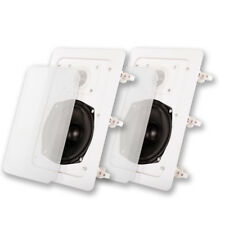 Acoustic Audio IW-191 In Wall Speaker Pair 2 Way Home Theater Surround Speakers