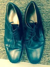 Geox men shoes  leather upper black size US 8/EUR 41 pre-owned