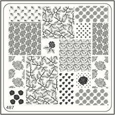 MoYou Nail Fashion Stamping Nail Art Image Plate 487 Vintage Style Leafs