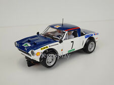 Slot Car Scalextric Altaya Fiat Abarth 124 #7 Spyder Le Coupe English -
