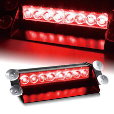 Nice Red 8 LED Car  Dash Strobe Flash Light Emergency Warning lamp 3 Mode