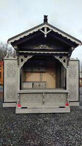 Verkaufsanhänger Weihnachtsmarkthütte Verkaufsstand Marktanhänger Imbisswagen