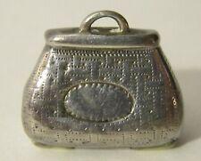 Antique Sterling Silver Vinaigrette, Purse Shape, 1820, Birmingham, England