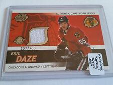 2003-04 Pacific Supreme Jerseys #7 Eric Daze/700 : Chicago Blackhawks