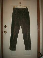 Brandon Thomas suede leather dark green pants size 6