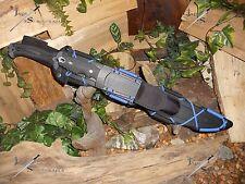 Machete Sword Knife Flint Compass Carbon steel Titanium Full tang Survival kit