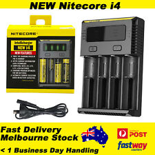 Nitecore NEW I4 Smart Battery Charger Lithium 18650 26650 22650 AA 17670 18350