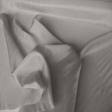 grau Futter-Stoff Taft für Bekleidung und Deko edle Meterware mit mattem Glanz