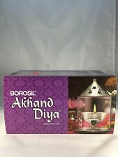 Indian Lamp Glass Borosil Diya (Small- Silver), Fast Shipping