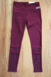 Justice Active Girls' Size 8 High Waist Legging - Mesh Accents on Legs & Logo