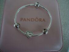 "Authentic Pandora TRIBUTE TO MOM Bracelet Gift Set 7.5""  W/ Pink Box B800515-19"