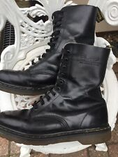 Doc Martens Mens Black Smooth Leather Boots 10 Eyelets Uk9/43 Made In England