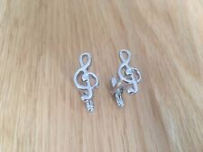 Music Note Novelty cufflinks*made of solid brass*1st class postage, Top Quality
