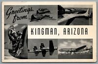 Postcard Kingman AZ c1944 Greetings From Kingman Arizona Pvt. Edward Myers B