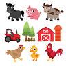 Farm Animals Farmyard Tractor Childrens Nursery Wall Stickers