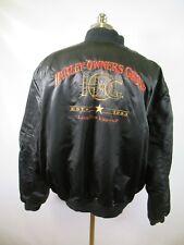 E6336 VTG HARLEY-DAVIDSON Motorcycle Biker Rider Satin Jacket Size 3XL USA